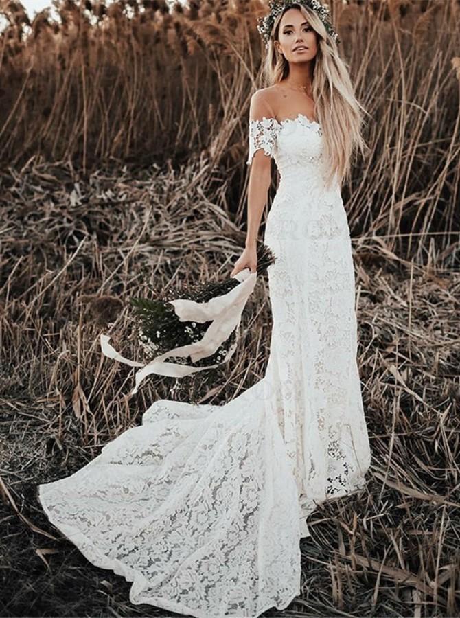 beach white boho dress