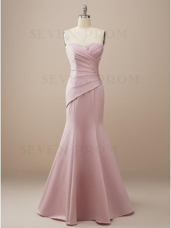 Elegant Long Mermaid Sweetheart Bridesmaid Dress