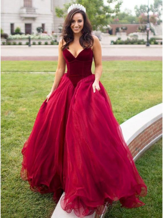 Stylish Burgundy Sweetheart Sleeveless Floor-Length Pleats Prom Dress