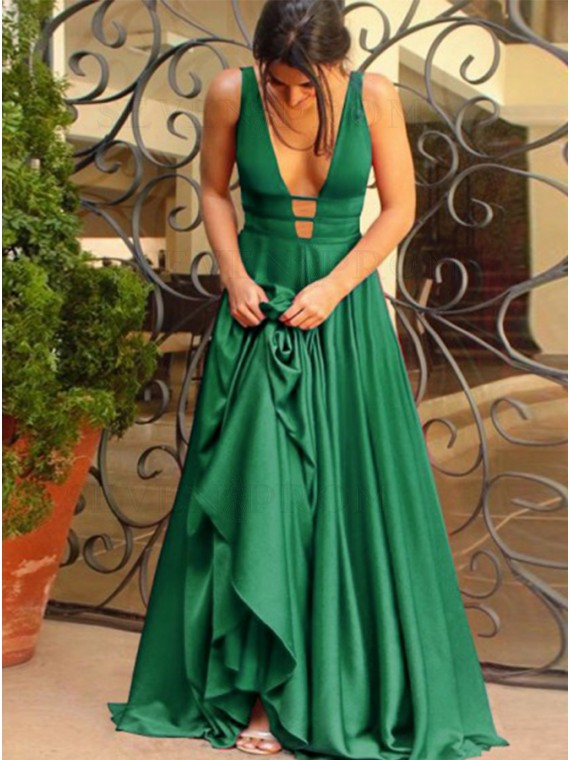 A Line Green Prom Dress (In Stock)