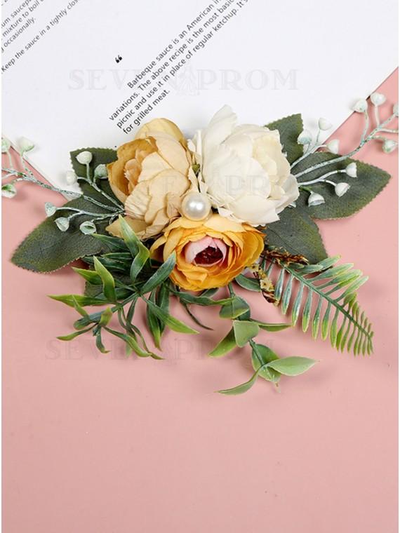 Handmade Artificial Flower Wrist Corsages