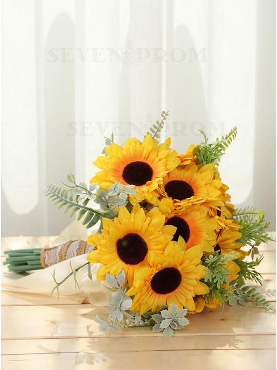 Sunflowers Bridal Bouquets Yellow Wedding Bridesmaid Bouquet