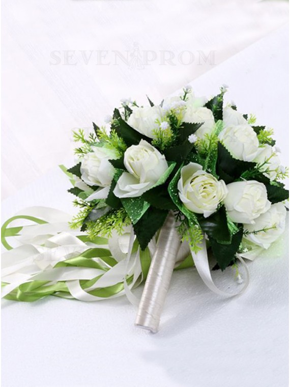 White Rose Wedding Bouquets Bridesmaid Bouquets