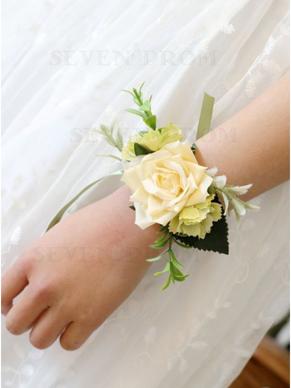 Chic and Stunning Yellow Wrist Corsage