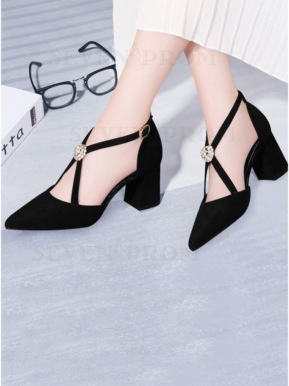 Black Pumps Low Heels Sandals
