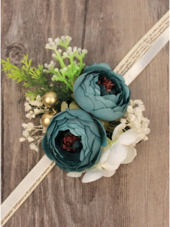 Lovely Blue Wrist Corsage