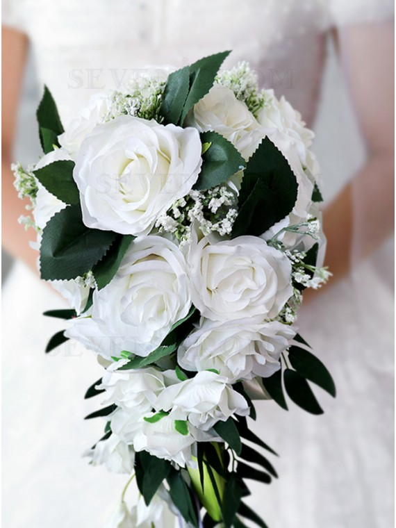 Graceful Wedding Rose Brial Bouquets Bridesmaid Bouquets