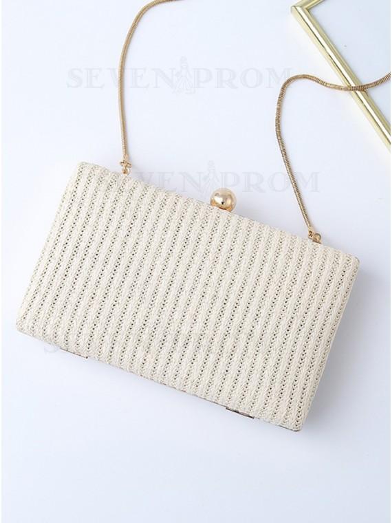 PVC White Clutch Bag