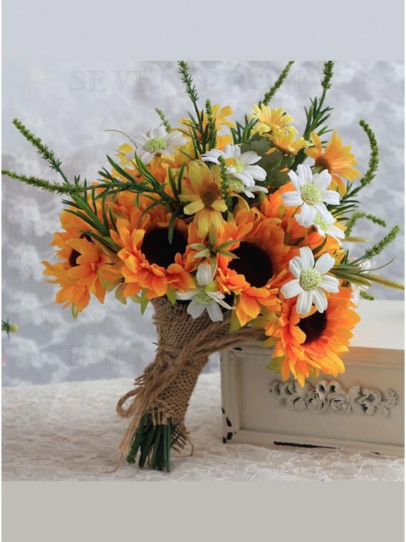 Sunflowers Yellow Bridal Bouquets Bridesmaid Bouquet