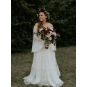 A-Line Off-the-Shoulder Lace Wedding Dress with Sleeves