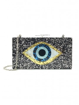 Sequin Chain Clutch