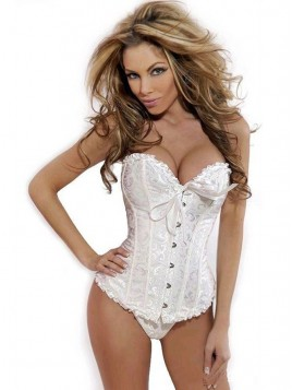 Women Polyester  Waist Cinchers Corset  With Bow Shapewear