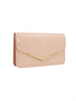 Simple Pink Envelope Clutch Bag