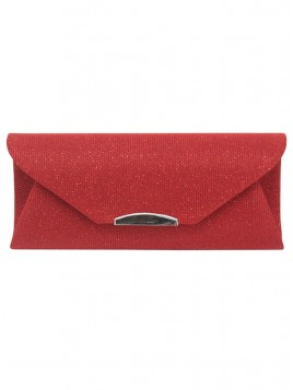 Shiny Red Clutch Bag