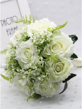 Wedding Romantic White Bridal Bouquets Bridesmaid Bouquet