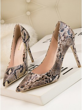 Snake Stiletto Pumps Heels for Prom