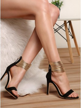 Black High Heel Prom Shoes