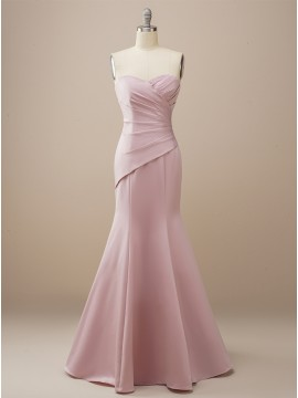 Elegant Long Mermaid Sweetheart Bridesmaid Dress