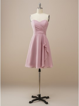 Sweetheart Blush Short Bridesmaid Dress