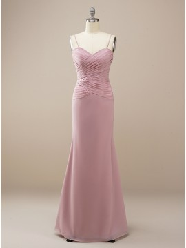 Long Mermaid Dusty Rose Bridesmaid Dress