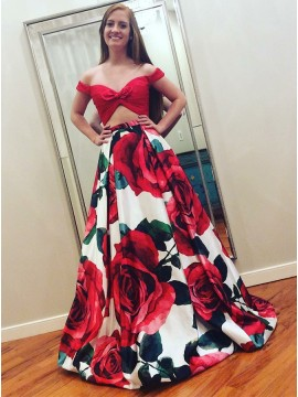 Cheap Two Piece Prom Dresses 2 Piece Mermaid Dresses For Prom