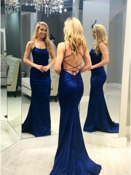 Long Mermaid Prom Dress Royal Blue Evening Dresses