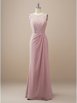 Sheath Dusty Rose Bridesmaid Dress with Lace