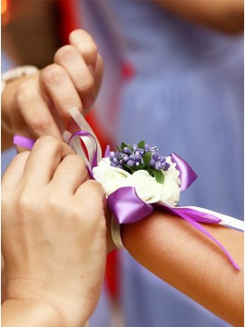 Purple Love Wrist Corsage