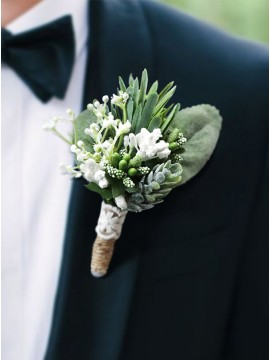 Men Lapel Boutonniere