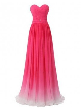 Casual Sweetheart Floor Length Ruched Lace-up Bridesmaid Dress