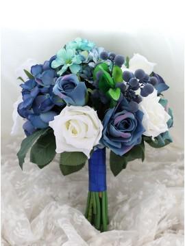 Wedding Flowers Blue Bridal Bouquets Rose Bridesmaid Bouquet