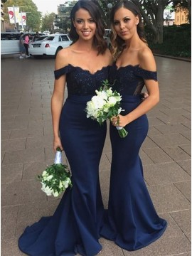 Mermaid Long Bridesmaid Dress (In Stock)