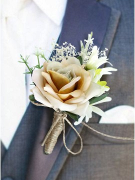 Champagne Handmade Boutonniere