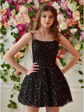 Black Star Homecoming Dress
