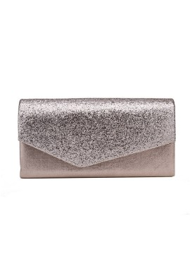 Fashion Pearl Pink Envelope Clutch Bag