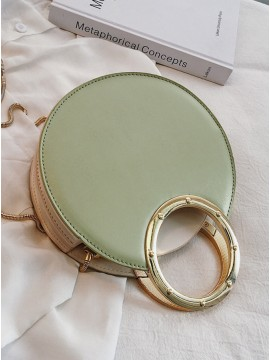 Round Green Chain Bag