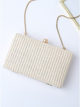 PVC White Clutch Bag