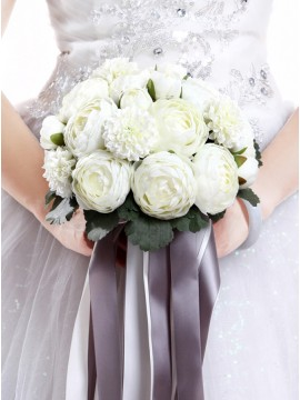 Ivory Peony Bridal Bouquets for wedding
