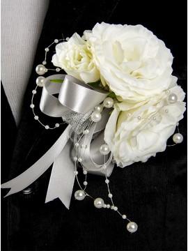 Artificial Camellia White Boutonniere