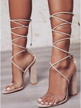 Apricot High Heels Prom Shoes