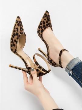 Pointed Stiletto Leopard High Heels