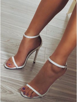White High Heel Prom Shoes