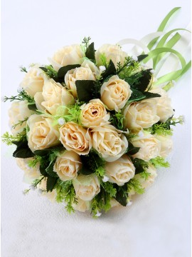 Wedding Roses Bridal Bouquets Yellow Bridesmaid Bouquets
