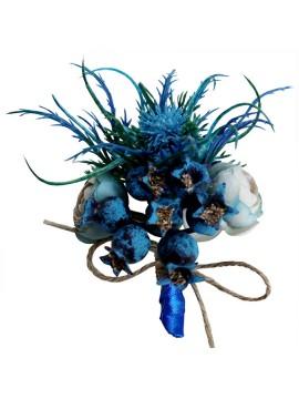 Blue Boutonnieres