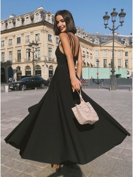 Simple Long Prom Dress Black Party Dress